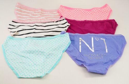 New Victoria/'s Secret Blue Pink Stripes Purple N1 Lot Of 6 Bikini Cut Pantie S