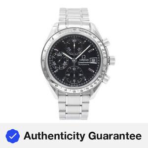 Omega Speedmaster Black Index Dial Chrono Steel Automatic Mens Watch 3513.50.00