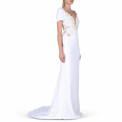 STELLA McCARTNEY  Beautiful White Sacha Long Dress $5,865