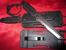 Neck Knife Fingermesser Tanto Messer Gürtelmesser Paracord Halsmesser + Holster