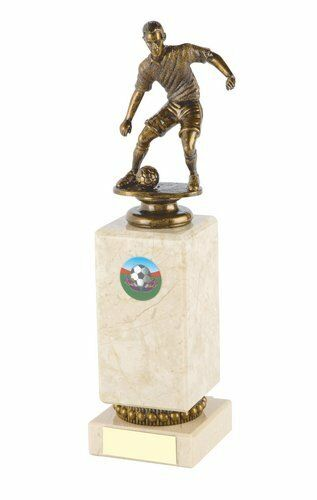 15 X 240mm Football Trophy, Award, Heavy Marble Block Base, FREE Engraving