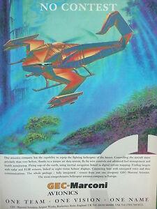 10-1993 PUB GEC MARCONI AVIONICS ATTACK HELICOPTER FUTURE SCORPION ORIGINAL AD AfmZJvpn-09110047-173949634