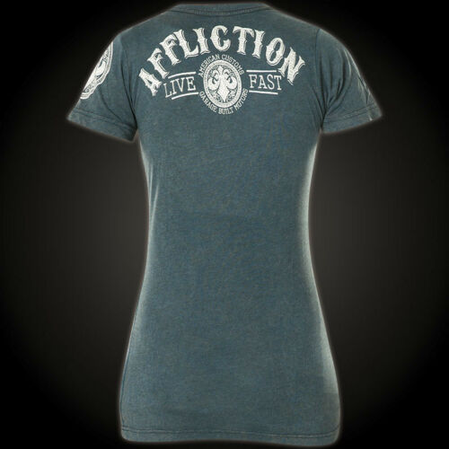 Ii shirt Damen T Battlefield Affliction Ac Blau BqzP77H