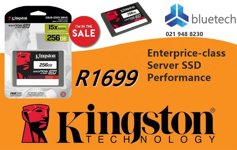 Kinston SSDNow KC400 256GB Solid State Drive - Bluetech Computers.