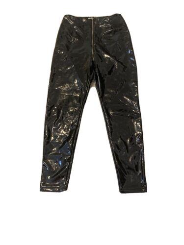 Black Patent Leather Pants Size Medium