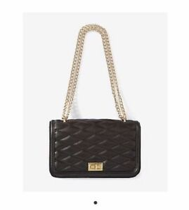 d09ed6a62d3 Image is loading NEW-EXPRESS-DIAMOND-QUILTED-GOLD-CHAIN-STRAP-SHOULDER-