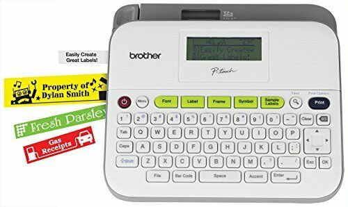 Brother Pt-d400ad Versatile Easy-to-use Label Maker With Ac Adapter 0.79 In//s