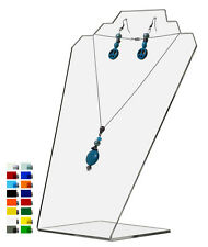 Slantback Necklace Holder Display Jewelry Stand Clear Acrylic