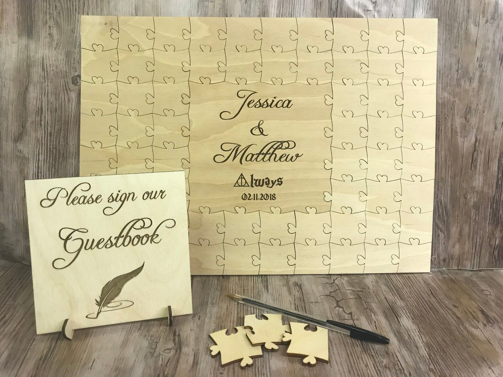 Personalised Harry Potter jigsaw puzzle keepsake wedding gift guest book