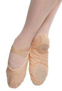 Rosa Lona Bloch Bomba s0277 Split Suela Zapatos De Ballet-todos Los Tamaños