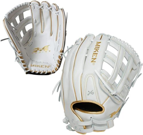 Miken White Gold PRO Series 13″ Slowpitch Fielding Glove PRO130-WG RHT