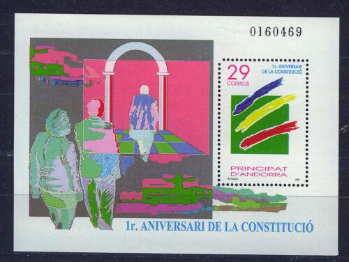 ANDORRA SPANISH 1994 MNH SC.227 Constitution 1st.anniv.