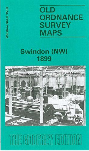 OLD ORDNANCE SURVEY MAP SWINDON NW 1899 ST MARKS CHURCH RODBOURNE ROAD