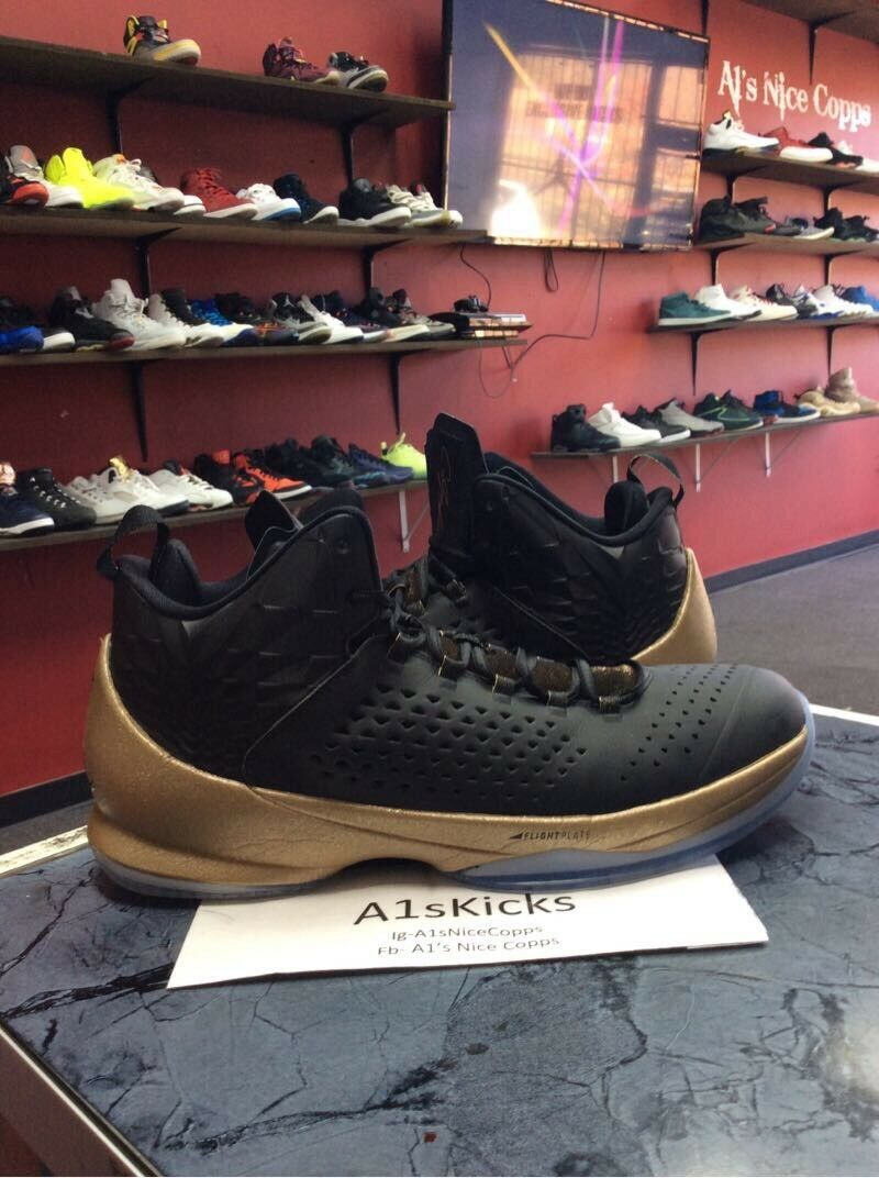 Air Jordan Melo M11 gold Black bluer Sz 13 716227-012 Basketball Men's