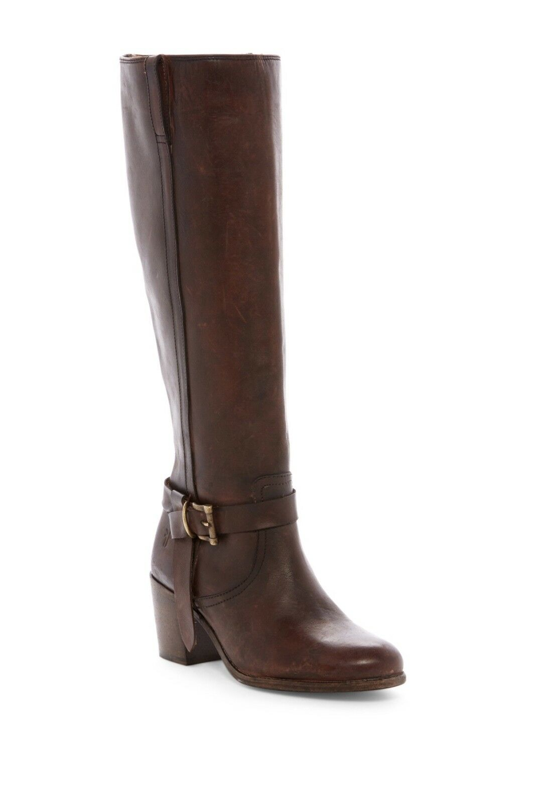 FRYE Malorie Knotted Tall Women Leather Boot Brown Redwood sz 6
