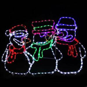 Animated-Snowman-LED-Rope-Lights-Silhouette-Outdoor-Christmas-Decoration-105cm