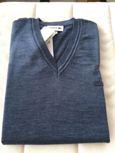 lana scollo M blu V Maglione Chine 100 Lacoste Ah2987 00 a tempete con Bnwt A88Uqw5x7
