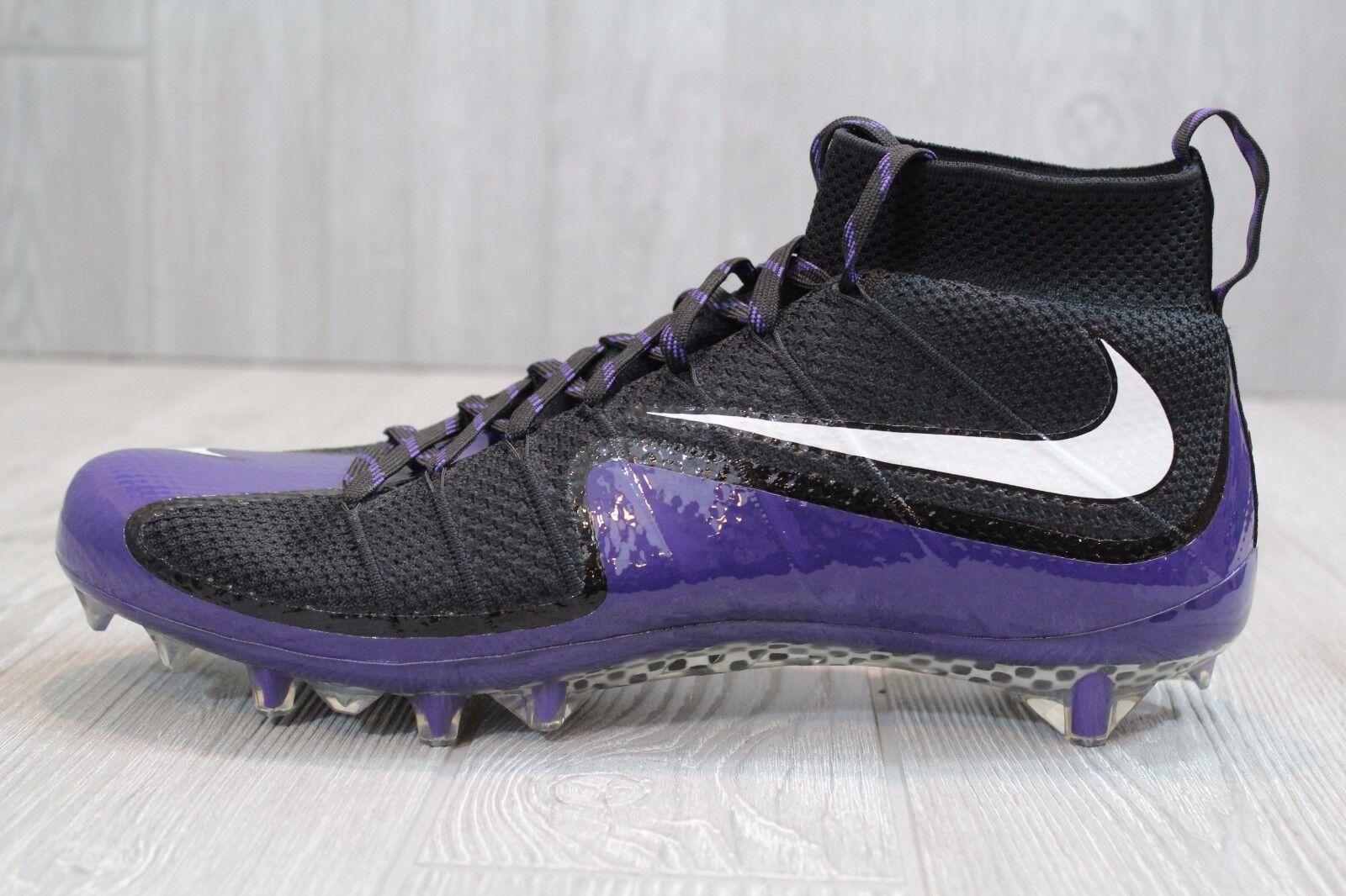 22 New Nike Vapor Untouchable Football Cleats Black Purple 707455-003 12.5, 13