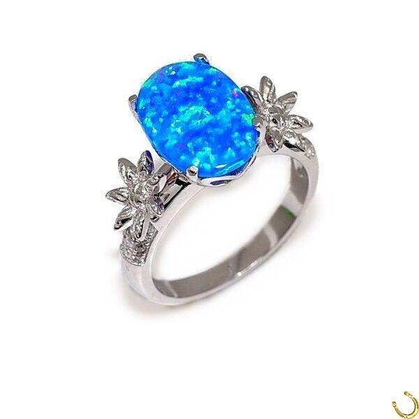 Opal Ring 925 in puro argentoo 14k oro oro oro Bianco KT IDEA REGALO TOP f9120c