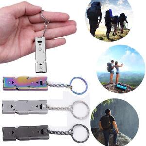 Survival Whistle Loud Decibel Emergency Distress Compact Slim Gear Kit