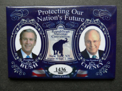 2004 BUSH CHENEY REPUBLICAN NATIONAL CONVENTION LIMITED EDITION NUMBERED X//5000