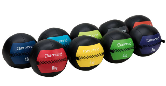 JK FITNESS LINEA DIAMOND WALL BALL ANTIRIMBALZO Ø 35 CM IN ECOPELLE VARI PESI