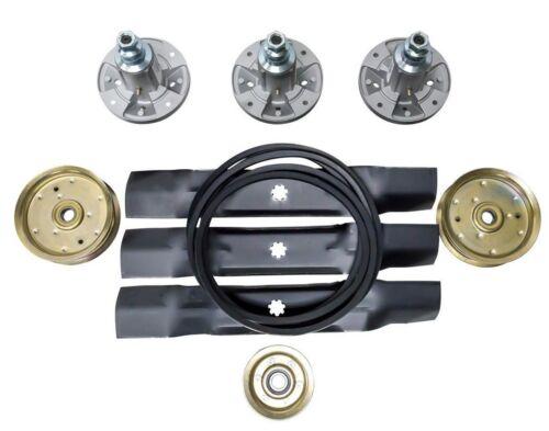 Deck Blade Spindle Belt Idler Kit Combo Set John Deere 155C LA130 LA140