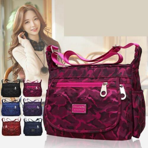 Fashion Women Men Nylon Crossbody Shoulder Bag Travel Handbag Satchel Tote Purse
