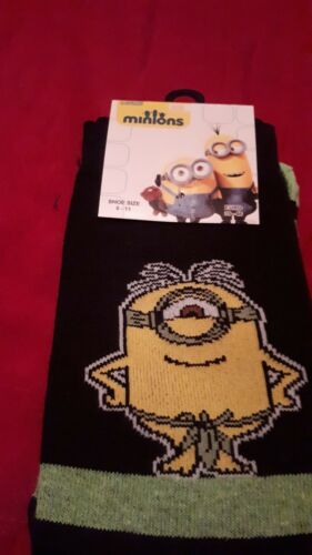 4 Pair Men Official Character Socks Minions  cotton Adults 6-11