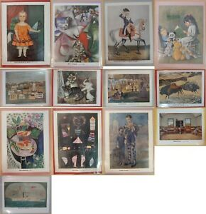 Lot-of-13-Vintage-Art-Print-for-My-Weekly-Reader-Art-Gallery-1-Magazine