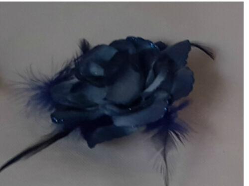 FLOWER HAIR ACCESSORIES HAIR BAND BROOCH CLIP WRIST CORSAGE FASCINATOR COLOURS*