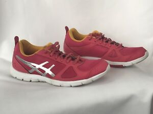 Details about Womens 8 ASICS Gel Muse Fit Sneakers Running Shoes S454N Raspberry Silver GUC