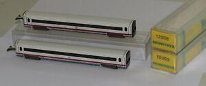 2x-Minitrix-ICE-Experimental-Personenwagen-Demonstrationswagen-12999-12998-N