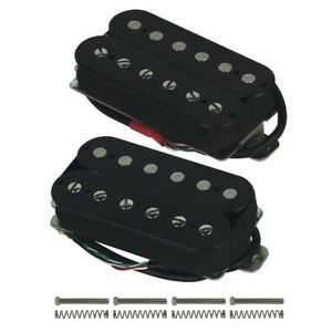 US-Alnico-5-Humbucker-Double-Coil-Electric-Guitar-Pickup-Neck-Bridge-Set