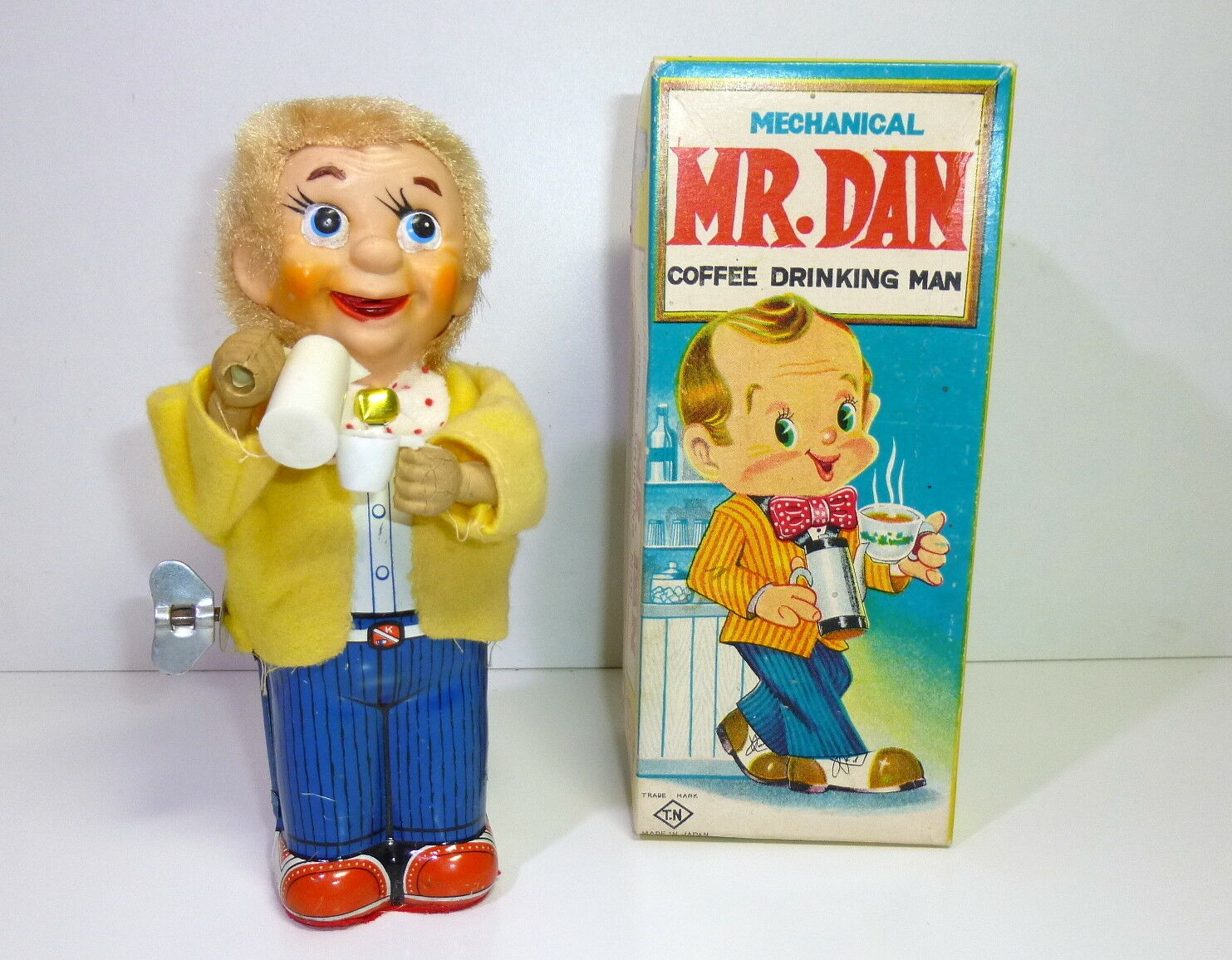 T.N.   Nomura (Japan) 's  Mr.DAN the Coffee drinking man  in Original Box.