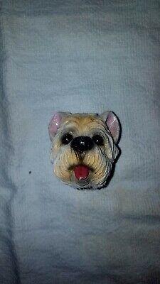 Vintage Antique Yorkie Yorkshire Terrier Plaster Chalkware Figurine