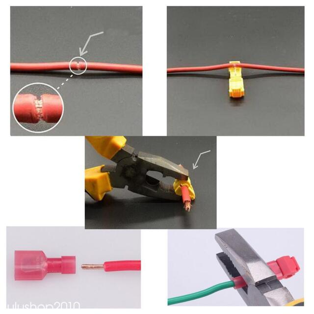 Durable 30pcs T-tap/male Female Insulated Wire Quick Splice Terminal ...