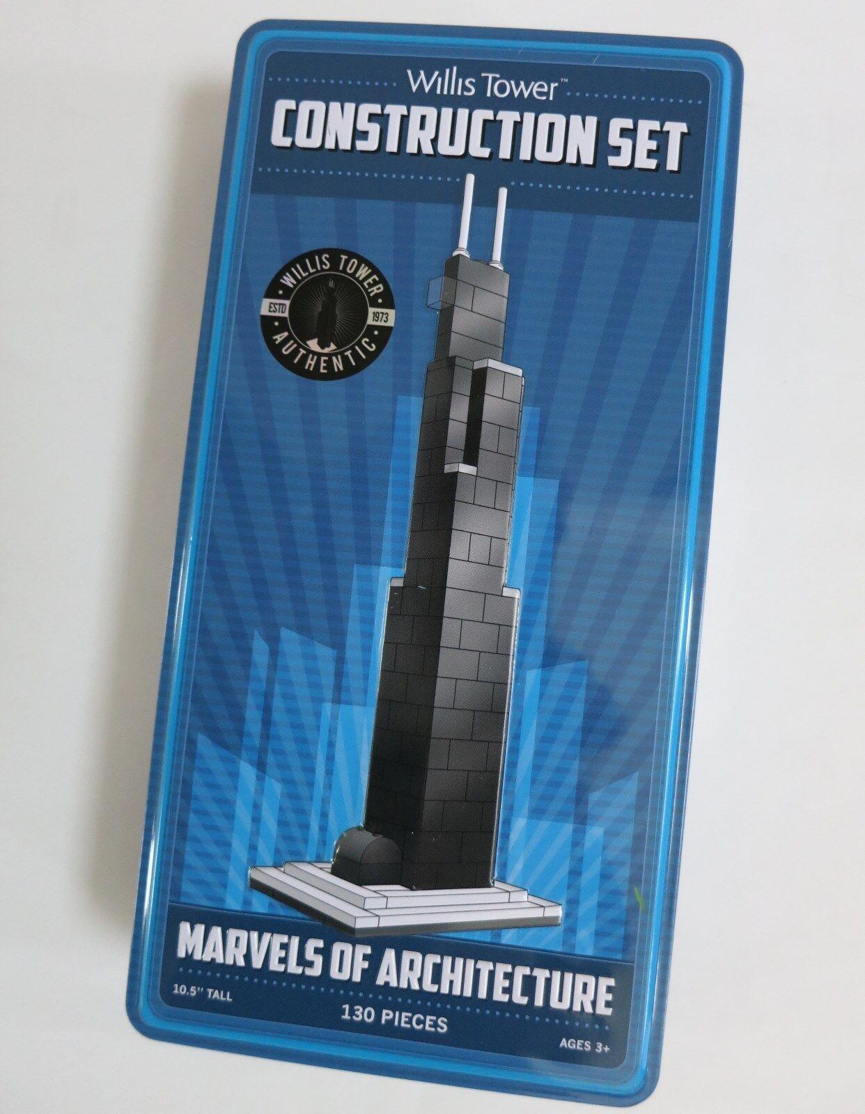 Willis Tower Juego de construcción  Maravillas de la arquitectura de 130 piezas, 10.5  de alto, NUEVO