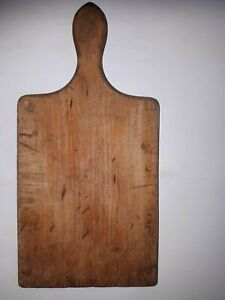 OLD-PRIMITIVE-WOODEN-WOOD-BREAD-CUTTING-BOARD-PLATE-6