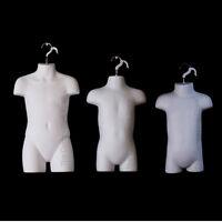 Infant + Toddler + Child White Mannequin Forms Set For Boys & Girls 9mo-7 Sizes