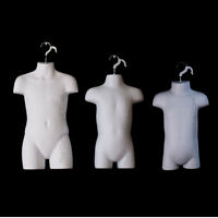 Infant + Toddler + Child White Mannequin Forms Set For Boys & Girls 9mo-7 Sizes