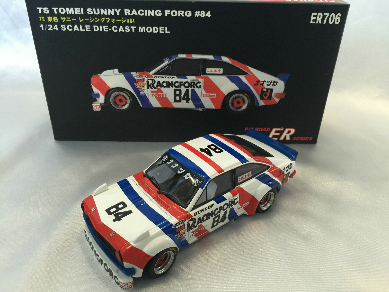 DATSUN Sunny 1200 TS Racing Forg   84 Cars 1 24 Pitroad KB110 A12 Coupe Boys +14