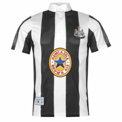 Score Draw Mens Newcastle United 1996 Home Shirt Retro Short Sleeve Round Neck