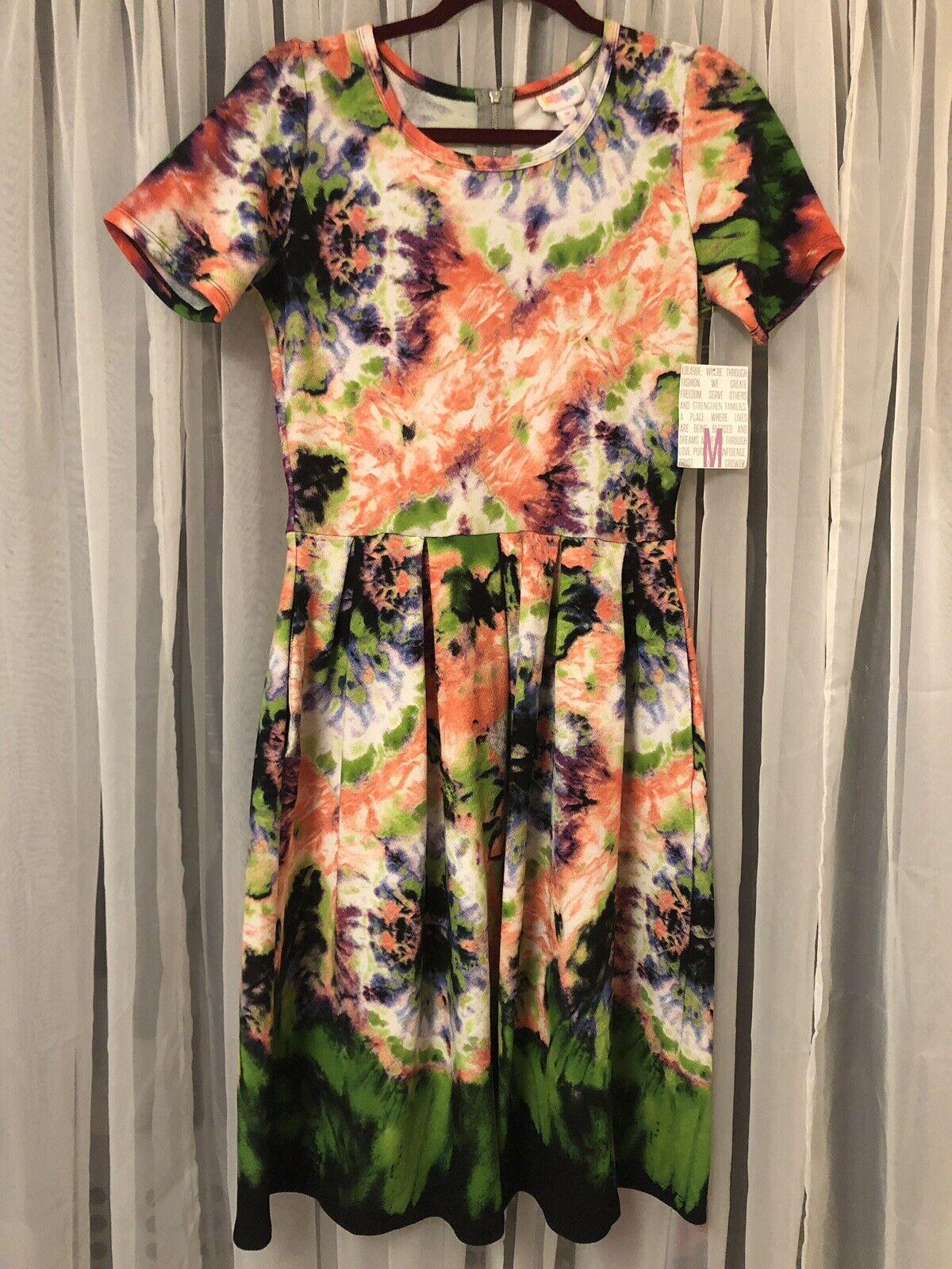 Tie Dye Watercolor LuLaRoe LuLaRoe LuLaRoe Amelia - New With Tags (NWT) Medium 7248de