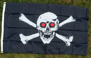 PIRATE-FLAG-SKULL-amp-CROSSBONES-with-RED-EYES-5-x-3