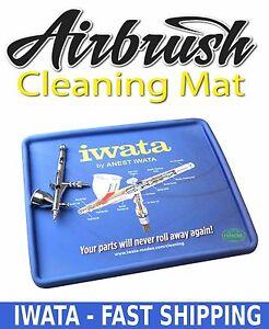 Airbrush Cleaning Mat Anest Iwata Spray Tool Gun Pot
