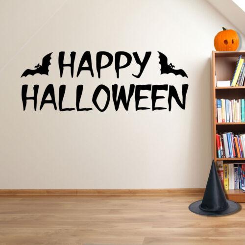 Happy Halloween Bats Spooky Party Creepy Window Wall Stickers Decorations A114