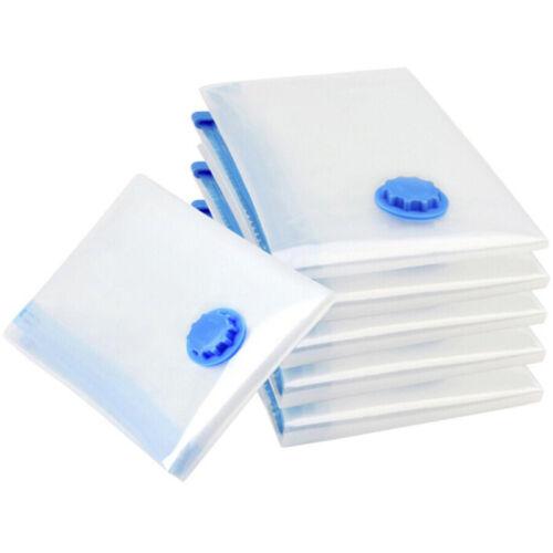 Foldable Vacuum Compression Bag Clothing Storage Organizer Wardrobe Space Saving