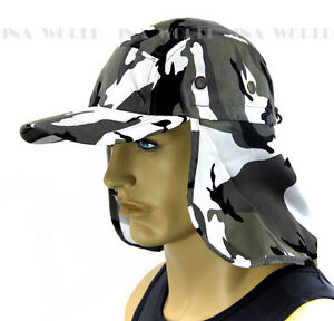 Sun Cap Ear Flap Neck Cover Hat Sun Protection Baseball