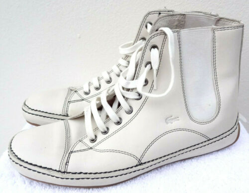 5 6 39 Off Leather Trainer Ankle Mystic White Lacoste Flat CqaZUU